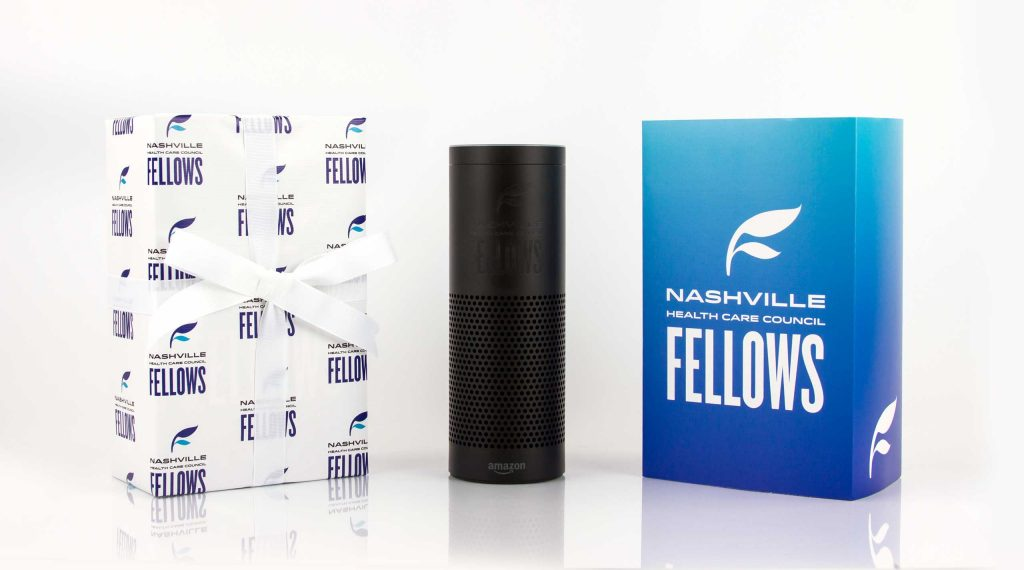 Nashville Healthcare Council: Amazon Echo with custom sleeve and gift wrap