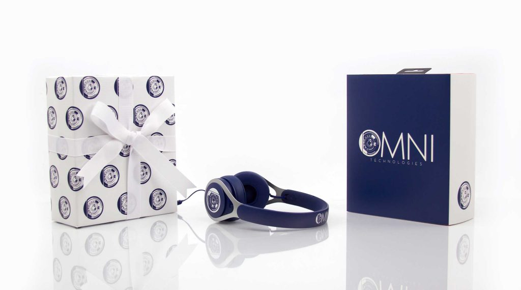 Omni Technologies: Beats EP headphones with custom sleeve and gift wrap