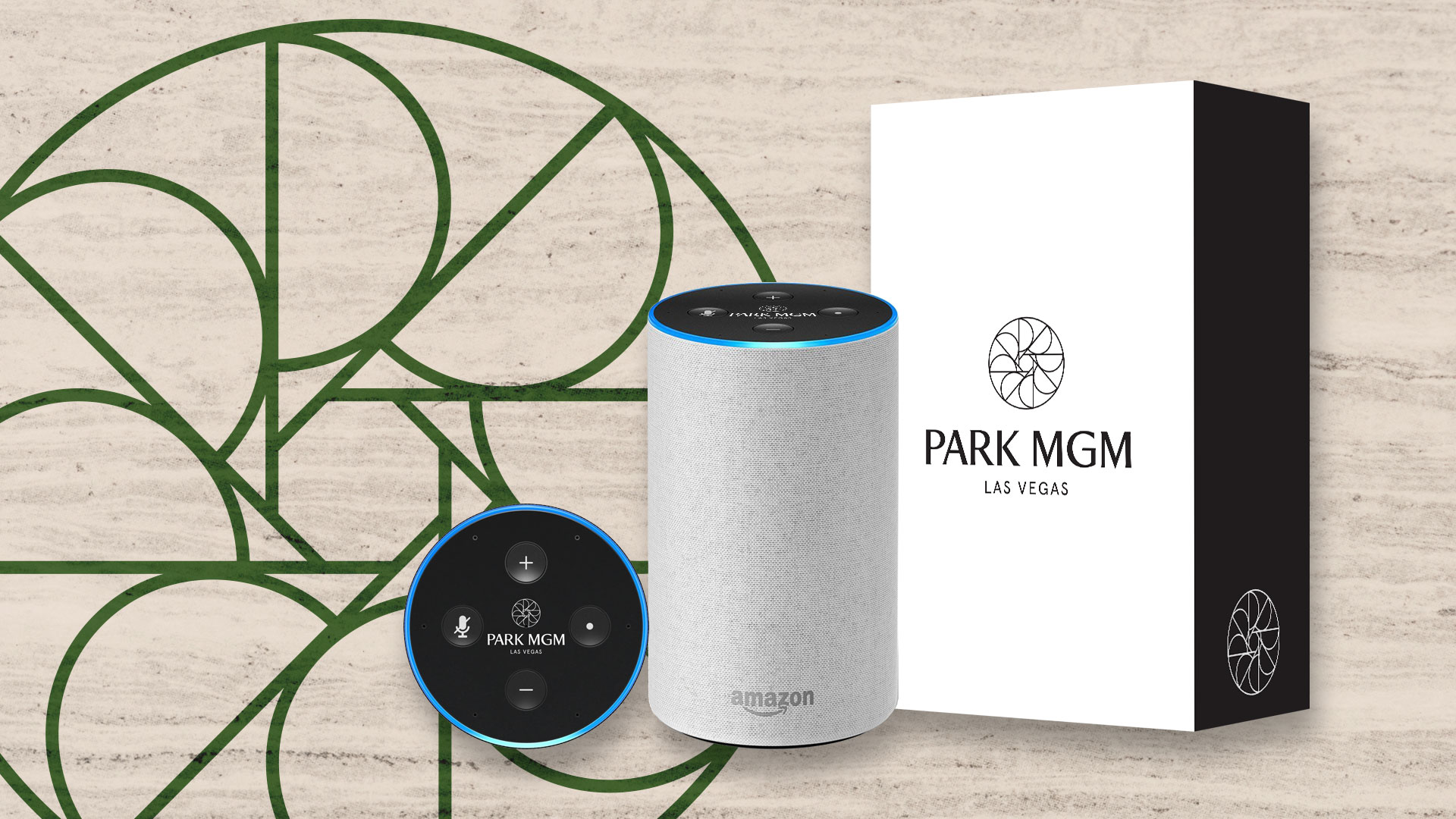 Custom branded Amazon Echo for Park MGM