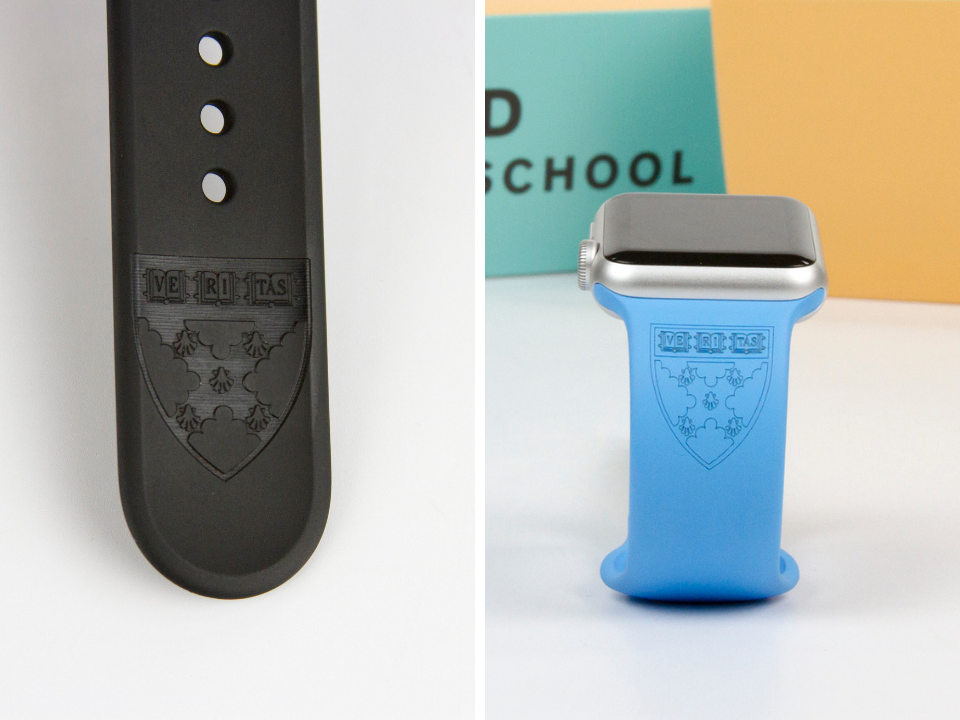 Customized Apple Watch bands for Harvard Business School