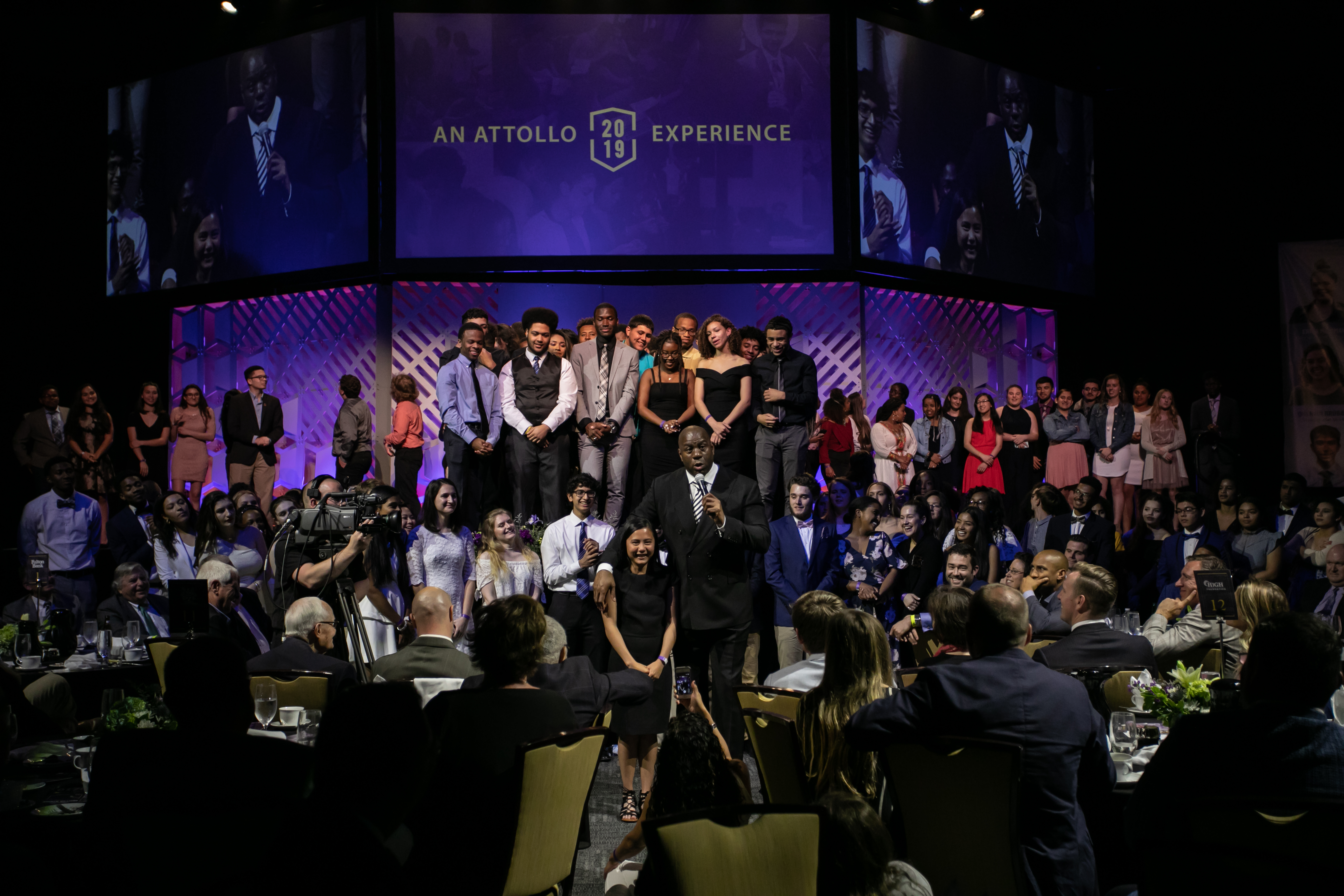 Attendees celebrate 60 of Attollo's high school program scholars for being accepted into colleges across the country. ©Attollo
