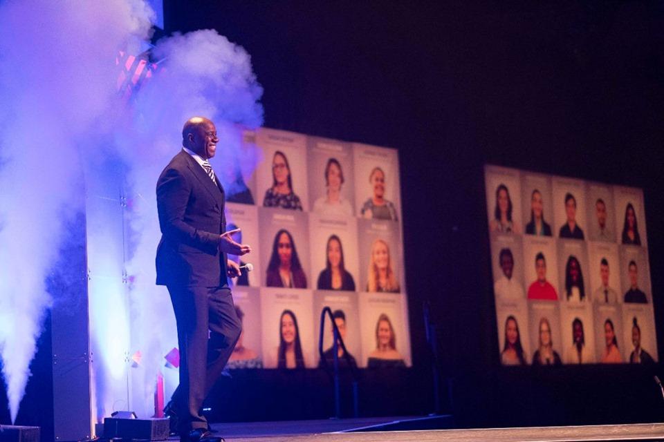 NBA Hall of Famer Magic Johnson keynotes 'Magic: An Attollo Experience' in Lancaster, Penn. ©Attollo