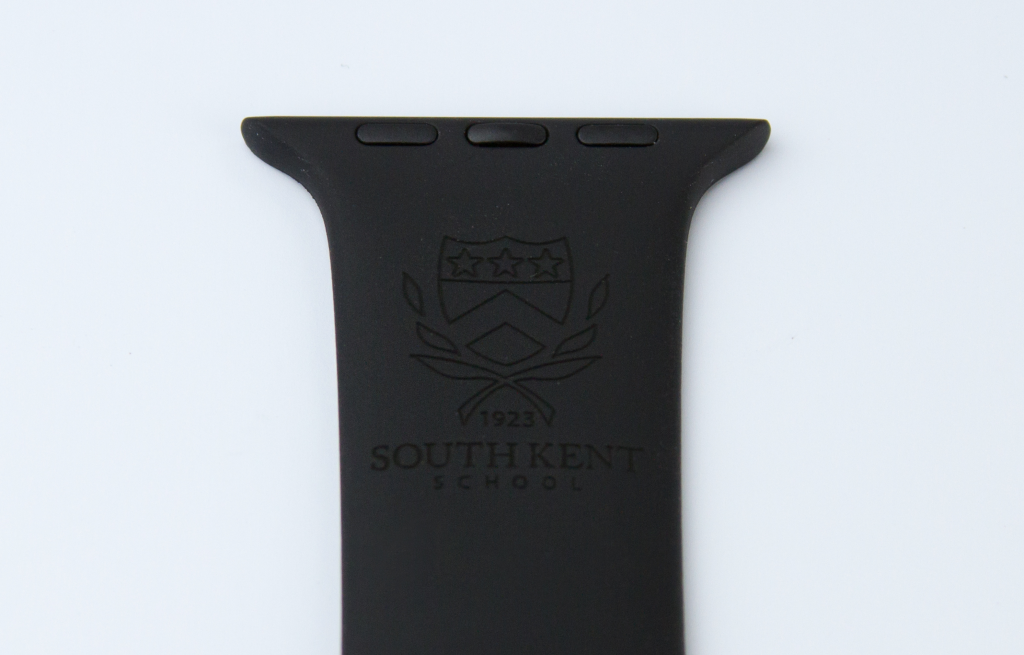 Customize Apple Watch band in black for South Kent School