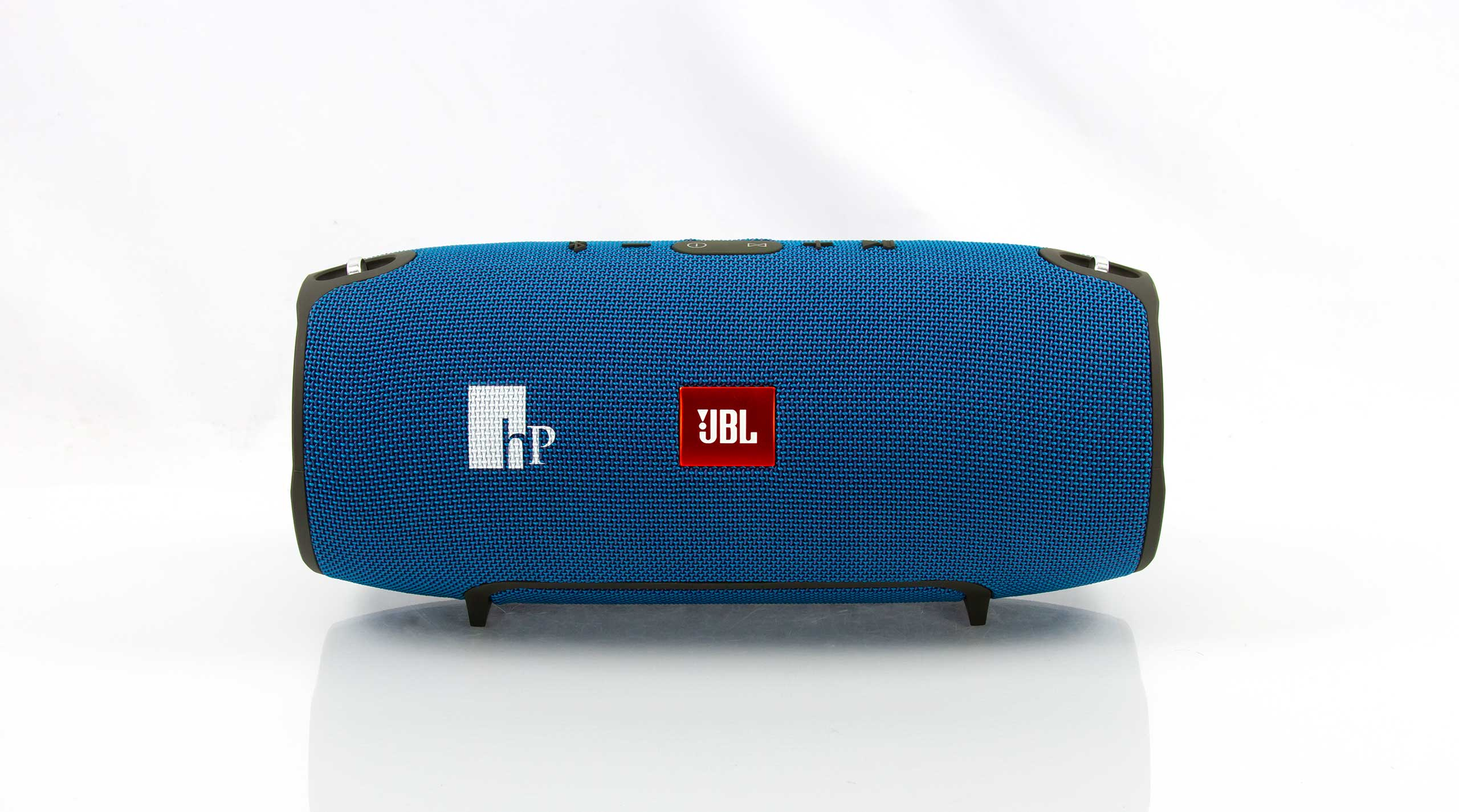Eye-catching JBL Xtreme bluetooth speakers customized for Horsepower Site Services