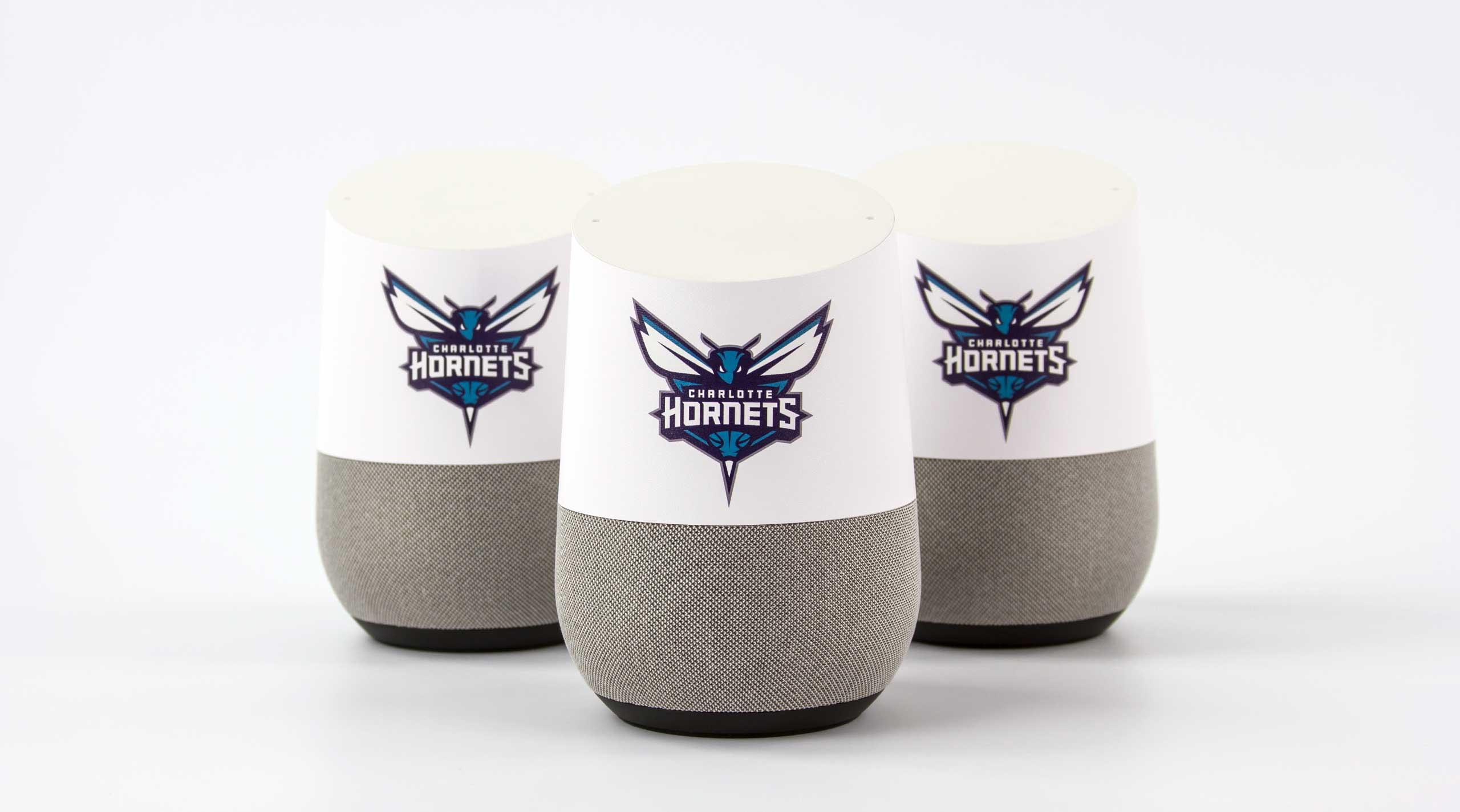 Custom branded Google Home for Charlotte Hornets