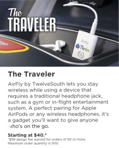 The Traveler: AirFly by TwelveSouth + one point of customization