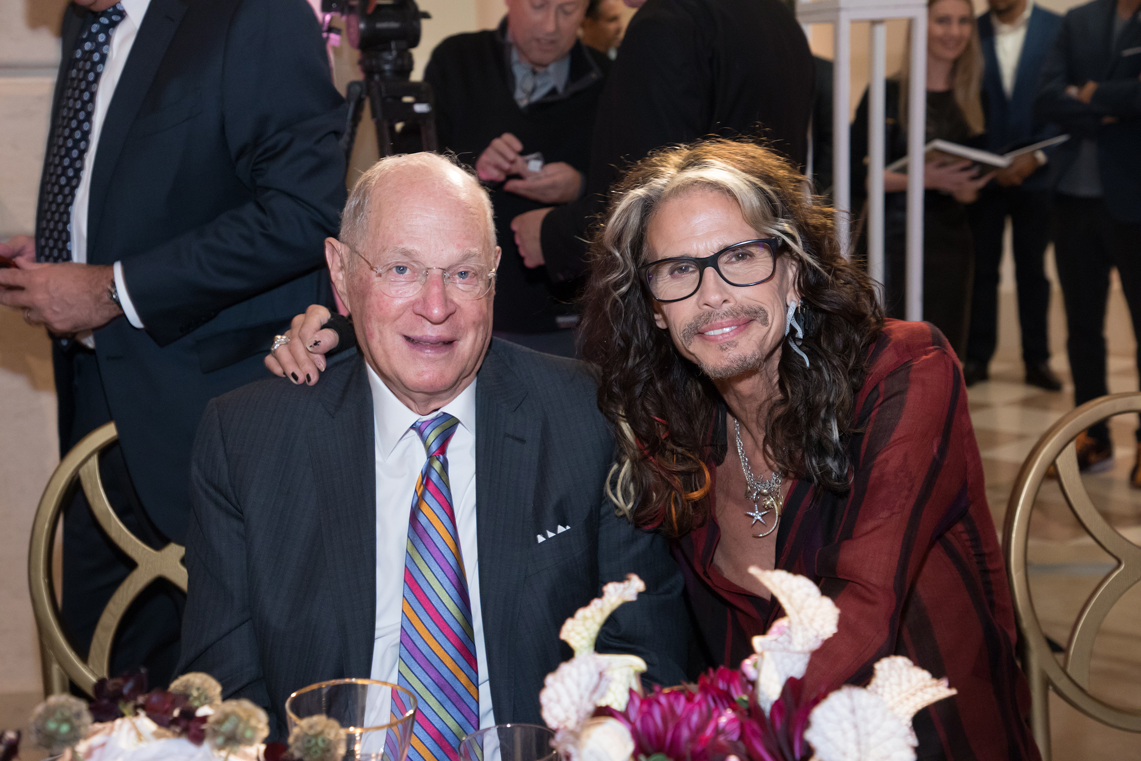 Some of the guests of honor at the Summit included: Anthony M. Kennedy, retired Justice of the United States Supreme Court, and Steven Tyler, Rock and Roll Hall of Fame singer and songwriter. Photo credit: American Academy of Achievement