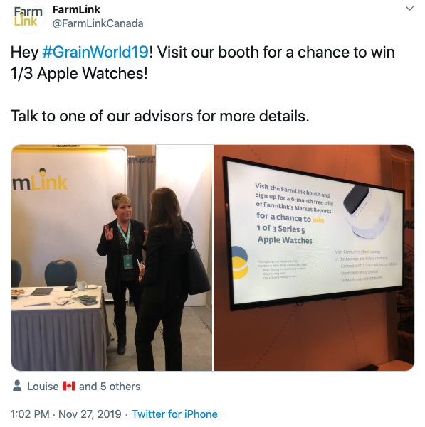 FarmLink features the customized Apple Watch at Grain World Conference