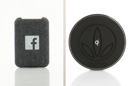 L to R: Nimble wireless charging pad, Insigna wireless charger
