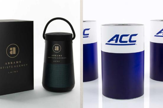L to R: Bose Soundlink Revolve speaker, UE Boom 2 speaker